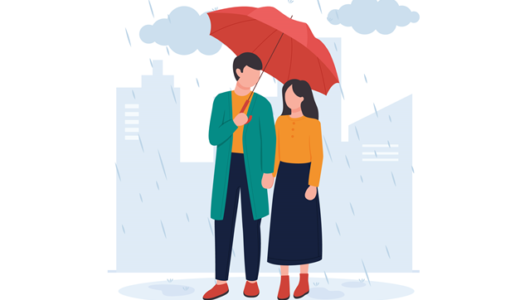 付き合う前の雨の日デート!実は二人の距離を縮める幸運の雨だって知ってた?